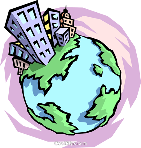 World globe Royalty Free Vector Clip Art illustration worl0687