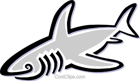 shark Royalty Free Vector Clip Art illustration anim1497
