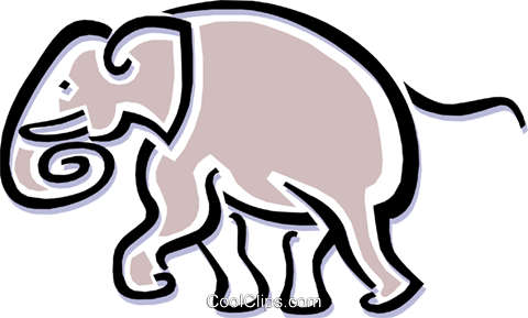 elephant Royalty Free Vector Clip Art illustration anim1498
