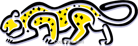 leopard Royalty Free Vector Clip Art illustration anim1501