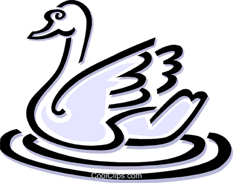 swan Royalty Free Vector Clip Art illustration anim1502
