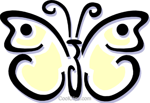 butterfly Royalty Free Vector Clip Art illustration anim1506