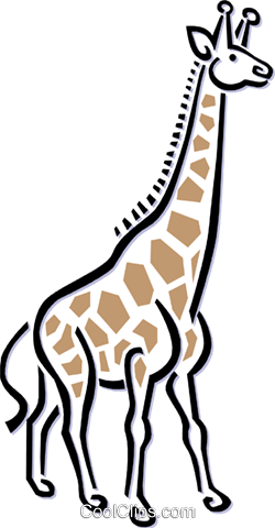 giraffe Royalty Free Vector Clip Art illustration anim1509