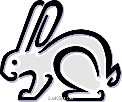 rabbit Royalty Free Vector Clip Art illustration anim1515