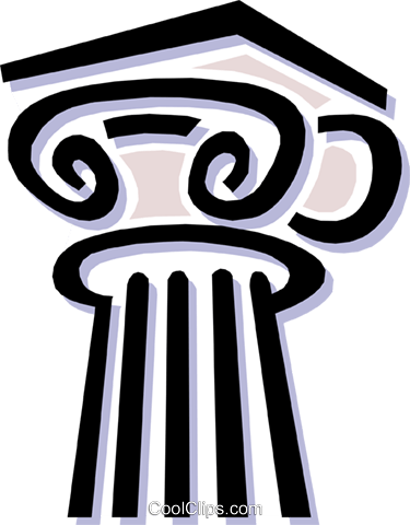 Ionic column Greek Royalty Free Vector Clip Art illustration arch0392