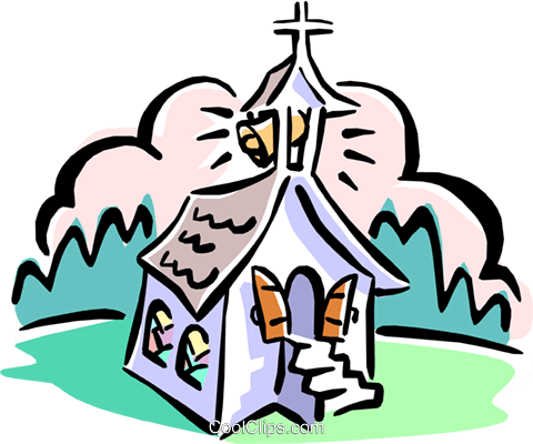 church Royalty Free Vector Clip Art illustration arch0394