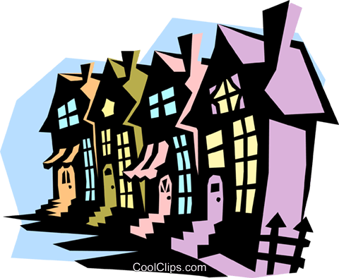 houses Royalty Free Vector Clip Art illustration arch0401