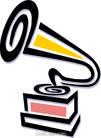 gramophone Royalty Free Vector Clip Art illustration arts0455