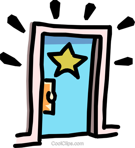 stars dressing room door Royalty Free Vector Clip Art illustration arts0459