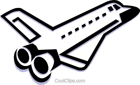 space shuttle Royalty Free Vector Clip Art illustration busi1232