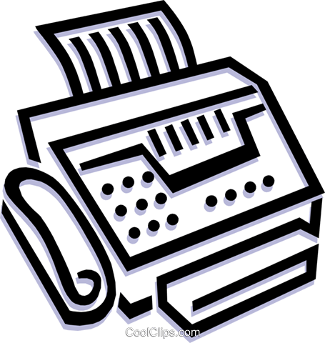 fax machine Royalty Free Vector Clip Art illustration busi1238