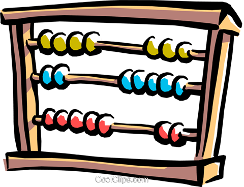 abacus Royalty Free Vector Clip Art illustration busi1239