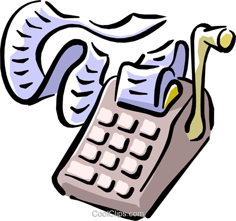 adding machine Royalty Free Vector Clip Art illustration busi1240