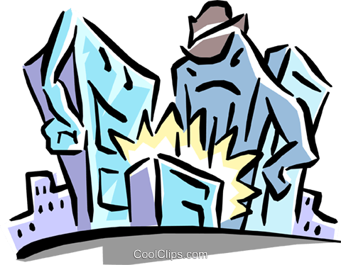 city caricature Royalty Free Vector Clip Art illustration busi1246