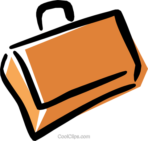 briefcase Royalty Free Vector Clip Art illustration busi1250