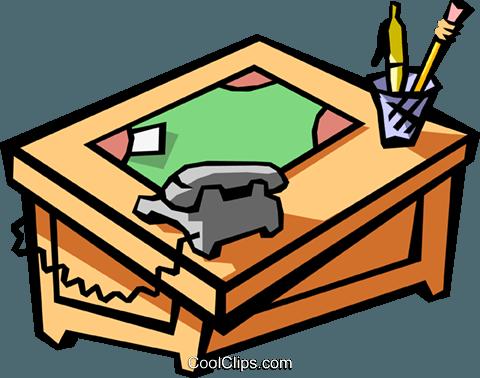 office desk vektor clipart bild busi1261. Black Bedroom Furniture Sets. Home Design Ideas