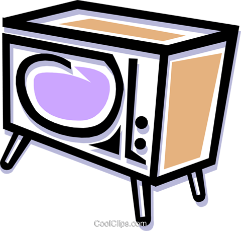 television Royalty Free Vector Clip Art illustration hous1028
