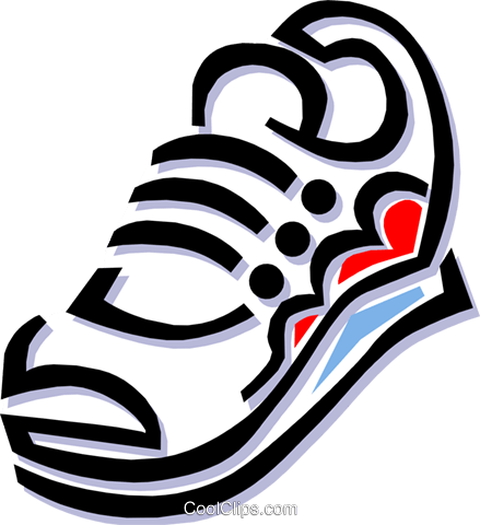 running shoes Royalty Free Vector Clip Art illustration hous1029