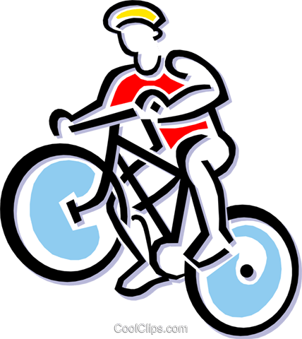 Person on bicycle Royalty Free Vector Clip Art illustration peop1827