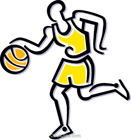 basketball player Royalty Free Vector Clip Art illustration peop1829