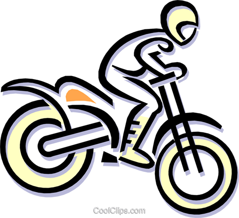 motocross Royalty Free Vector Clip Art illustration peop1832