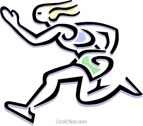 runner Royalty Free Vector Clip Art illustration peop1836