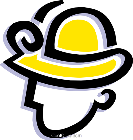 hard hat Royalty Free Vector Clip Art illustration peop1842