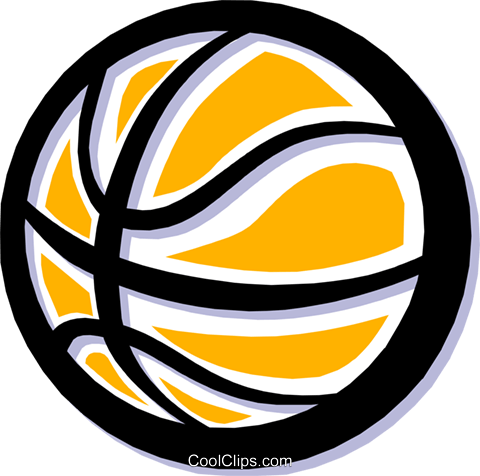 basketball Royalty Free Vector Clip Art illustration spor0233
