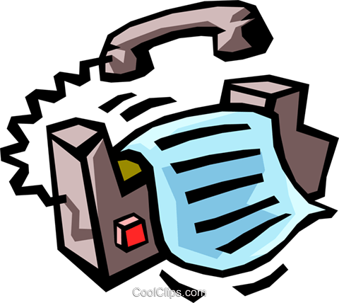 fax machine Royalty Free Vector Clip Art illustration busi1264