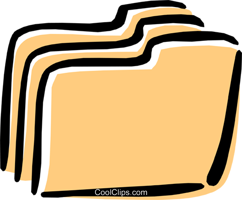 file folders Royalty Free Vector Clip Art illustration busi1265