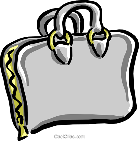 briefcase/portfolio Royalty Free Vector Clip Art illustration busi1267
