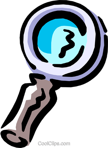 magnifying glass Royalty Free Vector Clip Art illustration busi1272