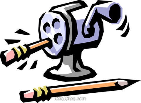 pencil sharpener Royalty Free Vector Clip Art illustration busi1285