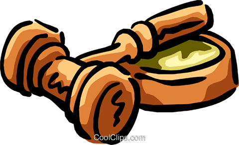 gavel Royalty Free Vector Clip Art illustration busi1303