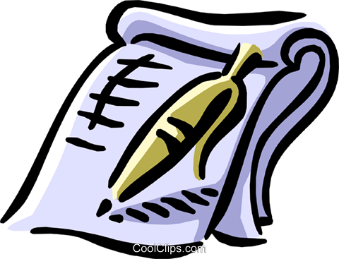 pen with legal contract Royalty Free Vector Clip Art illustration busi1304