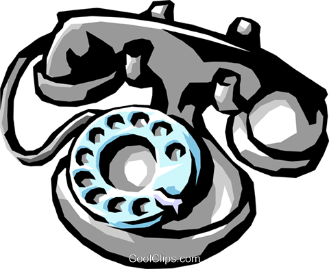 telephone Royalty Free Vector Clip Art illustration busi1305