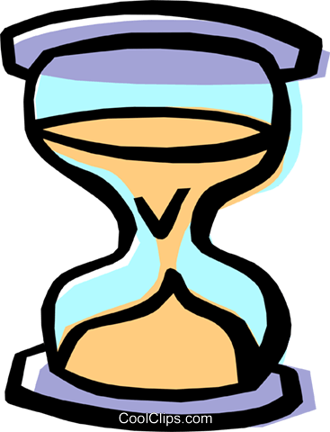 hourglass Royalty Free Vector Clip Art illustration busi1309