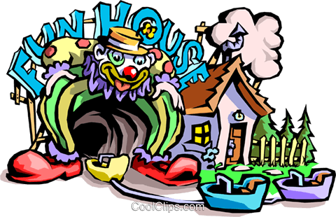 funhouse Royalty Free Vector Clip Art illustration cart1888