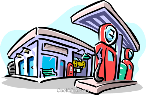 gas station Royalty Free Vector Clip Art illustration envi0210