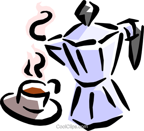 coffee pot Royalty Free Vector Clip Art illustration food0765