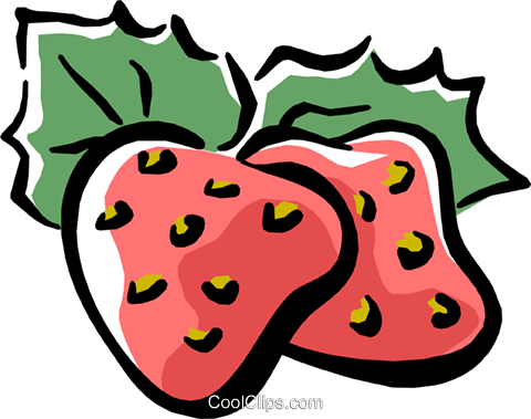 strawberries Royalty Free Vector Clip Art illustration food0778