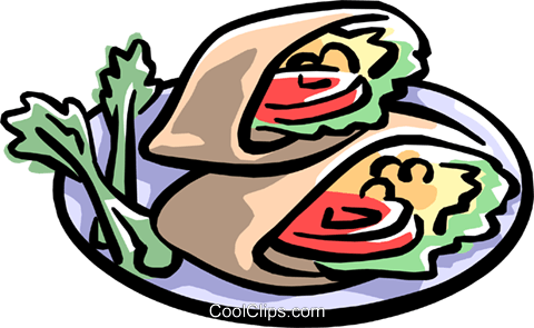 pita pocket sandwiches Royalty Free Vector Clip Art illustration food0785