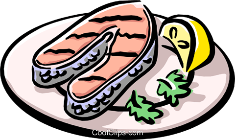 grilled salmon royalty free vector clip art illustration food0786 rh search coolclips com Seafood Boil Clip Art Seafood Clip Art Borders