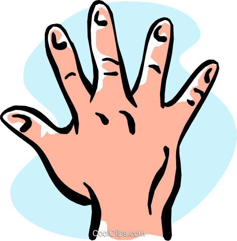 hand/five Royalty Free Vector Clip Art illustration hand0265