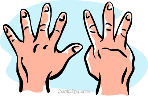 hands/eight Royalty Free Vector Clip Art illustration hand0268