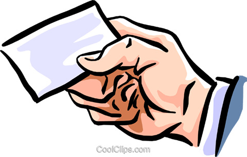 my card Royalty Free Vector Clip Art illustration hand0270