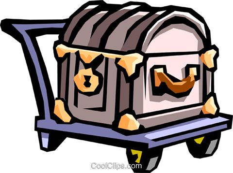 luggage Royalty Free Vector Clip Art illustration hous1054