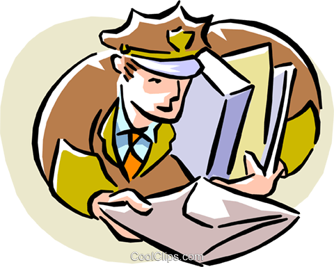 delivery man Royalty Free Vector Clip Art illustration peop1903