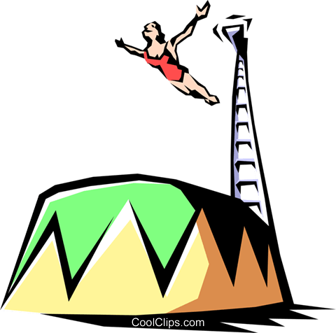 high dive Royalty Free Vector Clip Art illustration peop1910