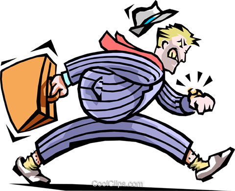 Man checking his watch Royalty Free Vector Clip Art illustration peop1913